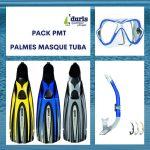 Pack Palmes Masque Tuba Mares