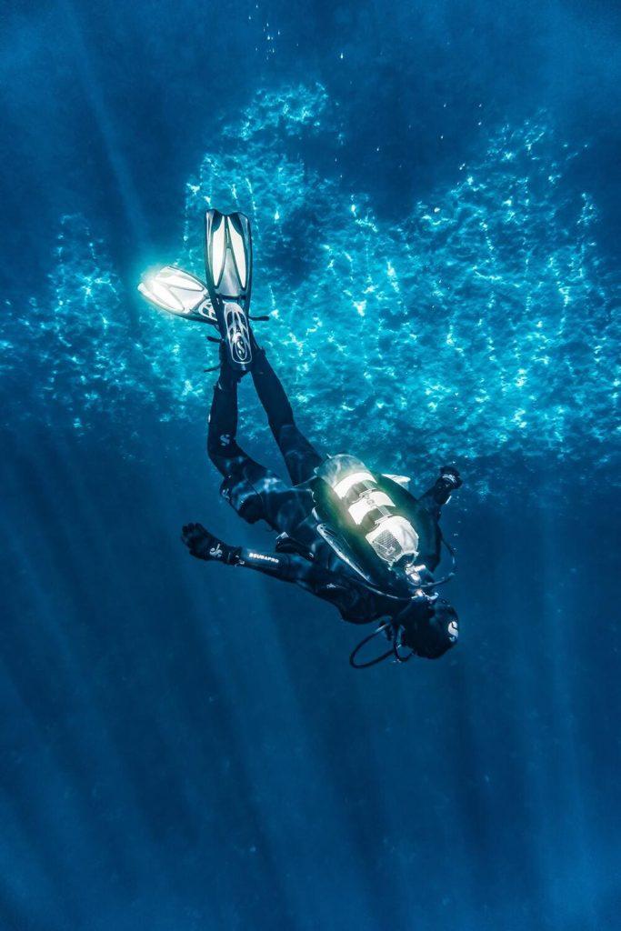 plongeur Duris plongée